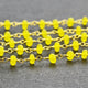 Yellow Chalcedony Gold Plated Wire Wrapped Beads Rosary Chain - GemMartUSA