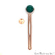 Gemstone Gold Plated Face Roller With Healing Stones, Skin care (Pick Stone & Plating)