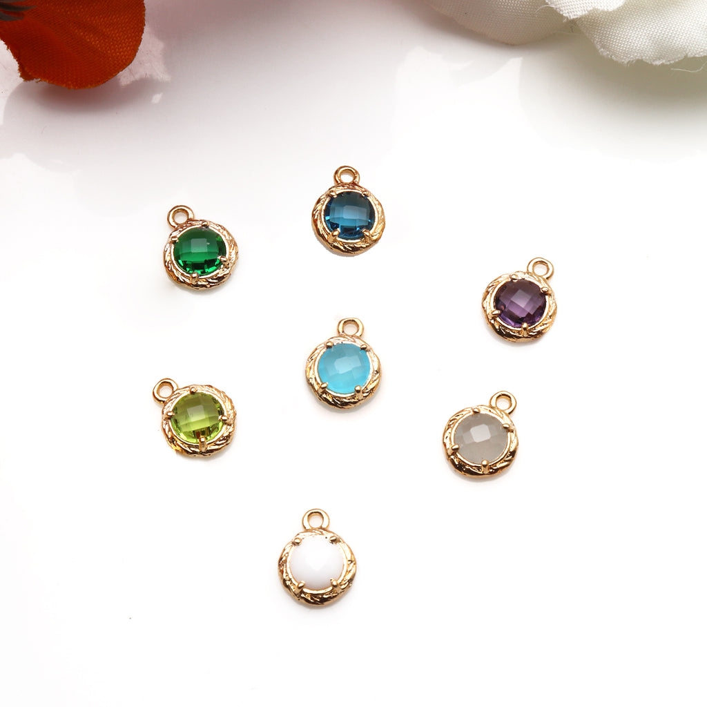 DIY 4 Prong Setting Gemstone Chandelier Connector - 1pc (Pick Your Gemstone)