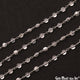 Crystal Faceted 3-4mm Silver Wire Wrapped Rosary Chain - GemMartUSA