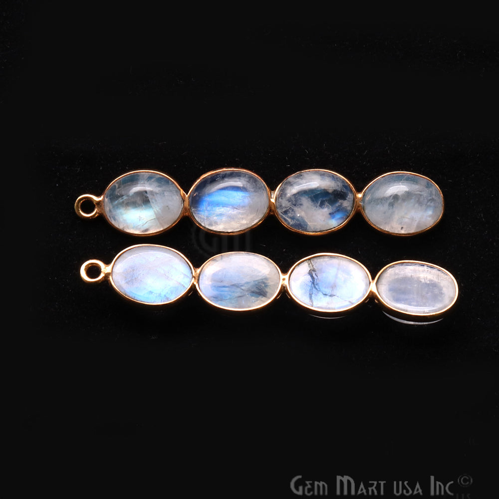 DIY Rainbow Moonstone 43x8mm Single Bail Chandelier Finding Component (Pick Your Metal)