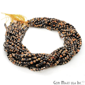 Bumble Bee Jade 4mm Faceted Rondelle Beads Strands 14Inch - GemMartUSA