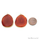 Agate Slice 34x27mmOrganicGold Electroplated Gemstone Earring Connector 1 Pair