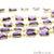 Amethyst 10-15mm Free Form Gold Plated Bezel Continuous Connector Chain - GemMartUSA