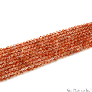 Sunstone Shaded 3-4mm Faceted Gemstone Rondelle Beads Strand 13""