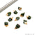 Chrome Diopside Gemstone 20x11mm Organic Gold Edged Connector