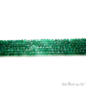 Green Onyx Shaded Micro Faceted Rondelle 3-4mm 13Inch Length AAAmazing quality 100 Percent Natural (RLGO-70010)