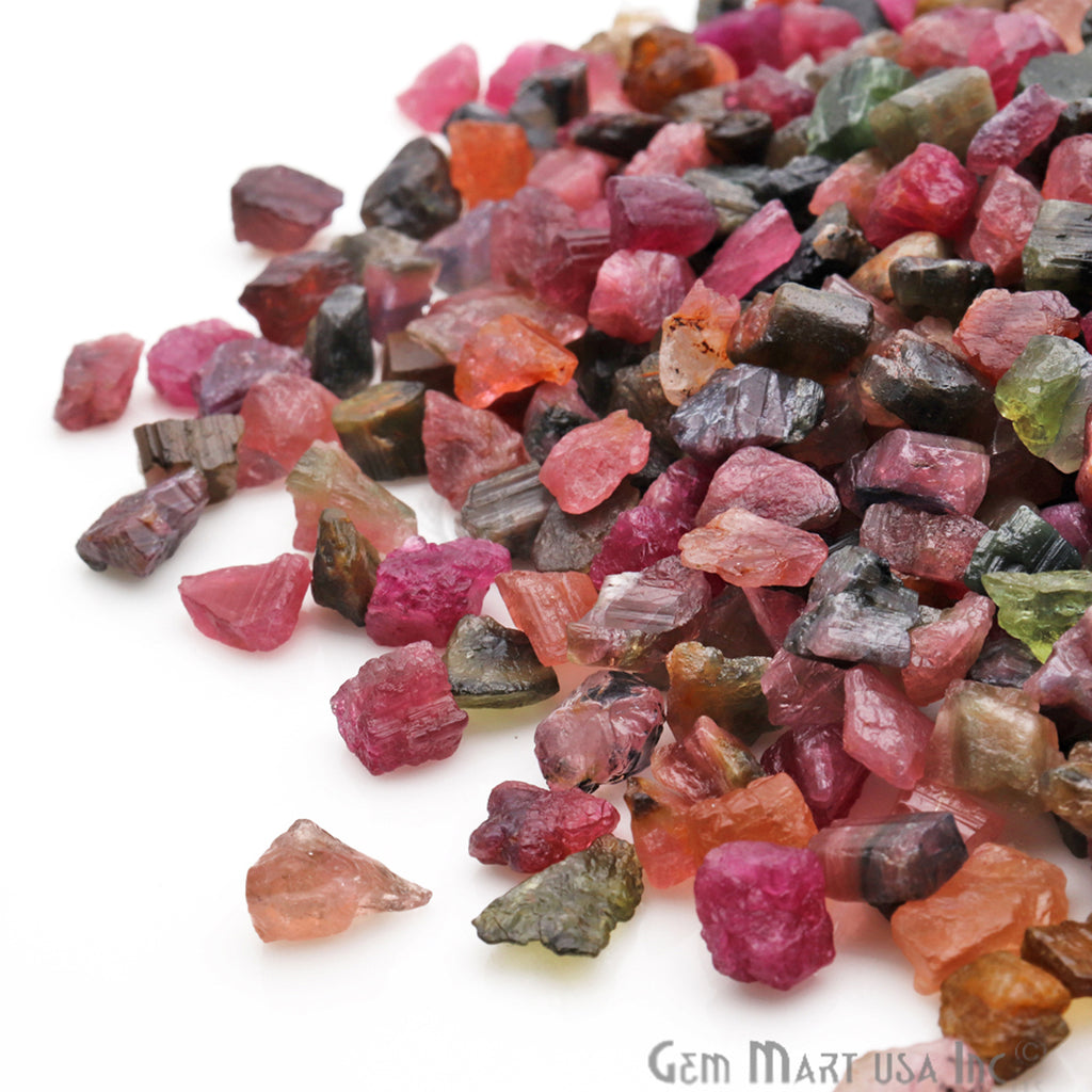 0.71oz Lot Rough Tiny Multi Tourmaline Loose Birth Gemstone