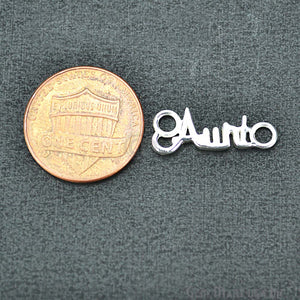 Aunt' Shape Silver Charm for Bracelet Pendants & Necklace