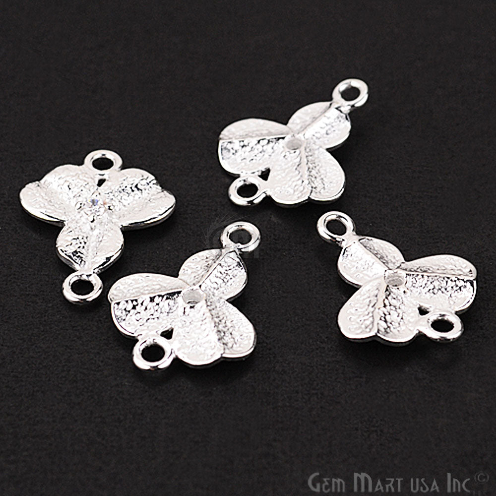 Leaf' Shape Silver Charm for Bracelet Pendants & Necklace