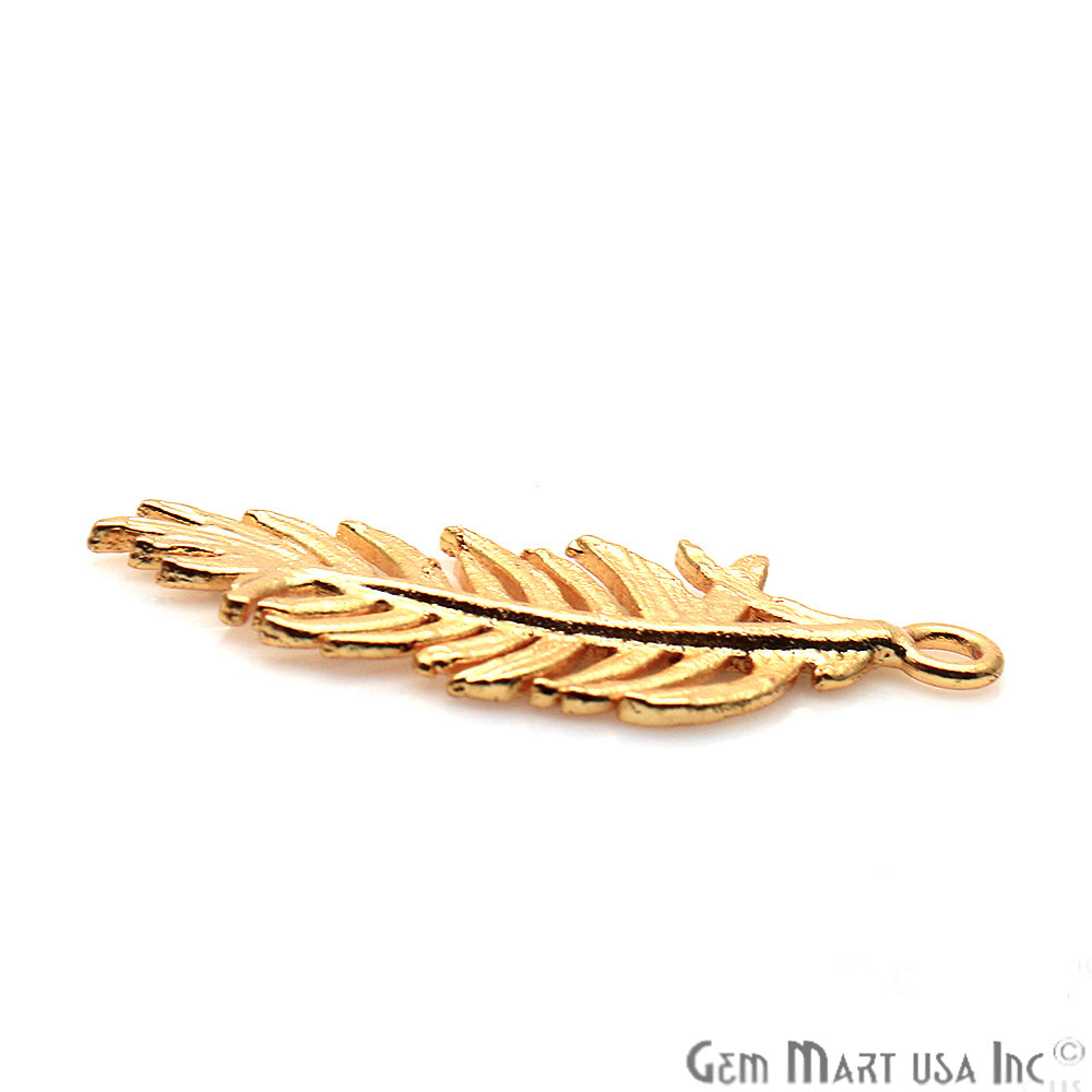 Feather Shape Findings, Filigree Findings, Findings, Jewelry Findings, 32x13mm (50061)