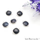 Natural Sapphire Square 12mm Double Bail Silver Plated Gemstone Connector - GemMartUSA