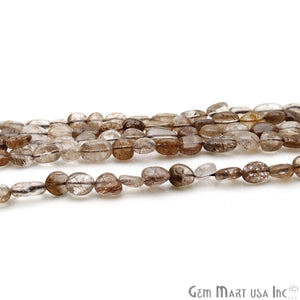 Brown Rutile 9x5mm Tumble Rondelle Beads Strands 14Inch
