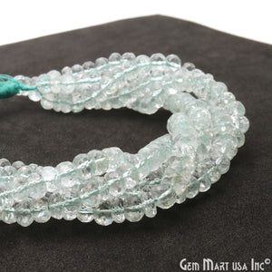 "Green Amethyst 7-8mm Faceted Round Beads Rondelle 9"" strand"