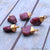 Rough Ruby Gemstone 17X11mm Gold Edged Bracelets Charm Connectors - GemMartUSA