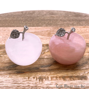 Handcrafted Apple in polished stone, Big size (Pick Stone)