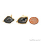 DIY Geode Druzy 28x18mm Gold Electroplated Loop Connector Studs Earrings