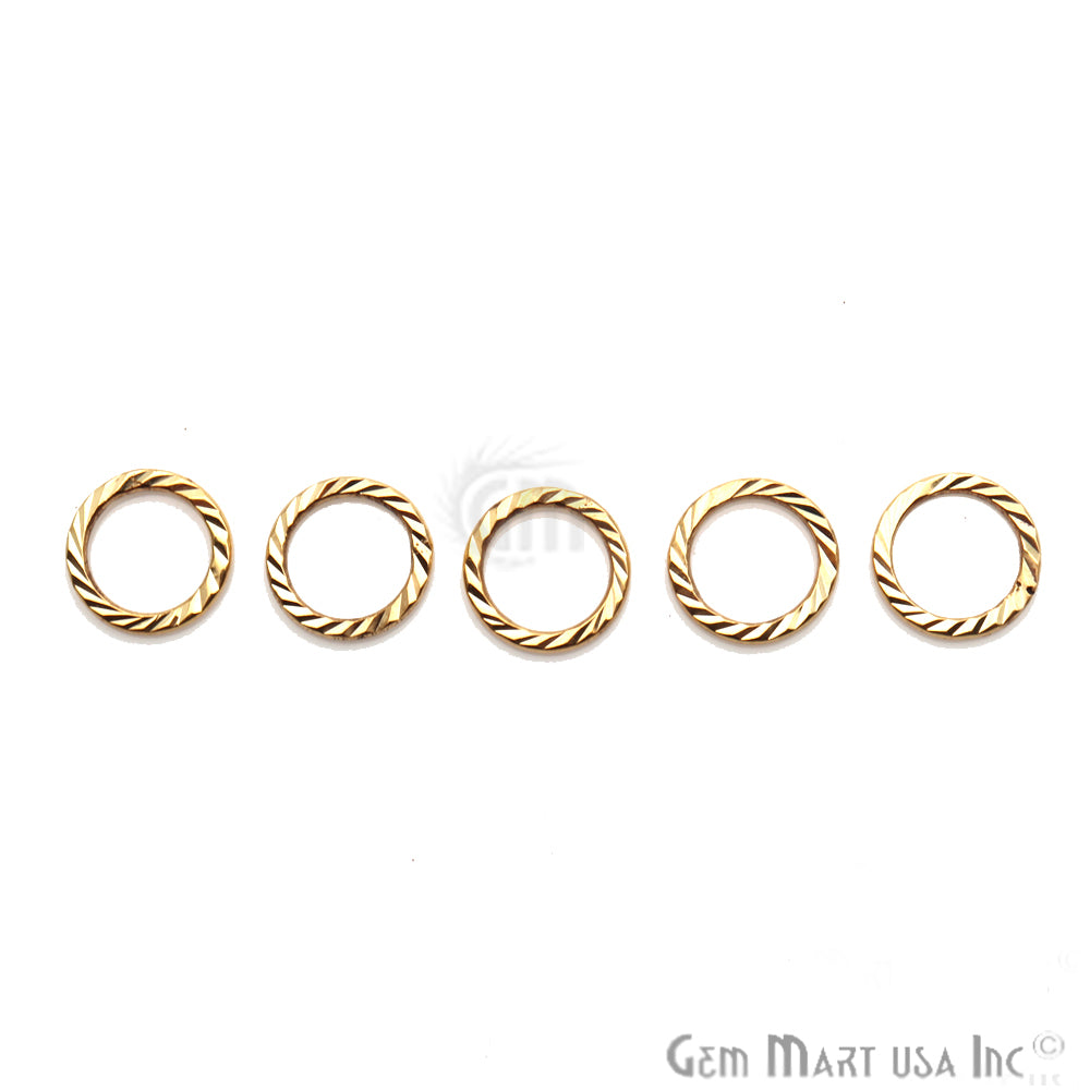 Gold Plated Round Finding, Filigree Findings,Bracelets Round Charm (Pick Size)