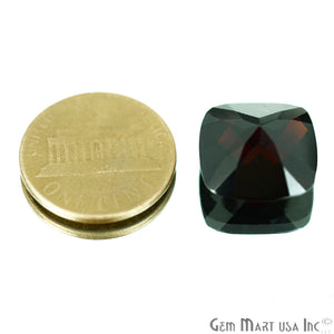 1 Pcs Of Natural Red Garnet Cushion 14mm AA+ Quality, Amazing Luster, Red Garnet (GT-80028) - GemMartUSA