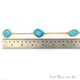 Turquoise 15mm Gold Plated Bezel Link Connector Chain - GemMartUSA