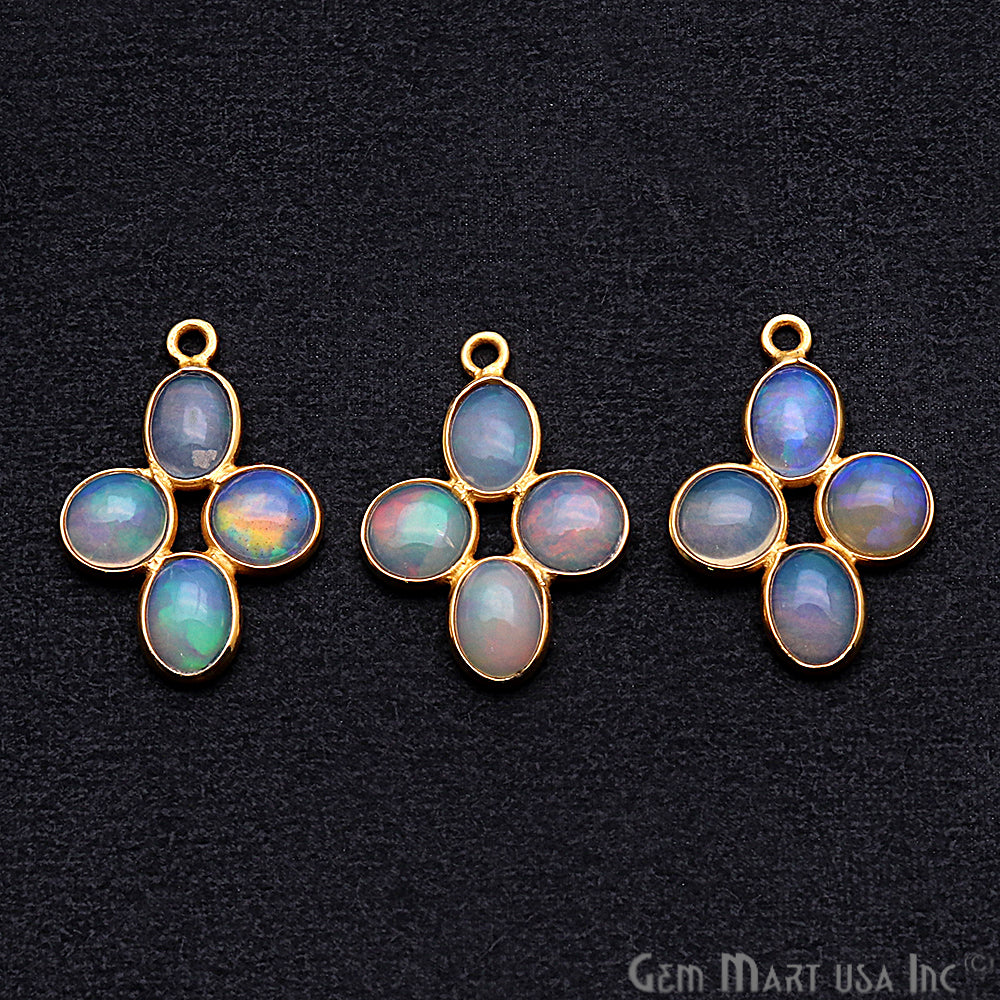 DIY Opal October Birthstone 22x15mm Chandelier Finding Component (Pick Your Plating) (13094)
