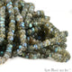 Natural Labradorite Faceted Round Beads 6-7mm Gemstone Rondelle Beads