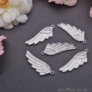 Angel Wings Charm 42x15mm Finding  Connector (Pick Your Metal)