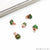 Chrome Diopside Gemstone 20x11mm Organic Rose Gold Edged Connector