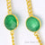 Green Onyx Round Shape 10mm Gold Plated Bezel Connector Chain