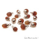 Carnelian Matte Beads Free Form 15x8mm Rose Gold Electroplated Pendant Connector - GemMartUSA