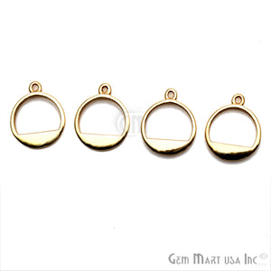 Round Finding, 14x11mm Gold Finding, Filigree Findings, Bracelets Charm