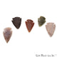 5pc Lot Arrowhead Cut Gemstones, 33x21mm Handcrafted Stone, Loose Gemstone, DIY Pendant, DIY Jewelry - GemMartUSA