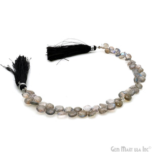 Labradorite Heart 4-5mm 8.50'' Bead Strand