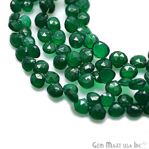 Green Onyx Onion Gemstone 7x8mm Beads Rondelle - GemMartUSA