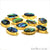 Abalone 13x18mm Oval Shape Gold Electroplated Double Bail Gemstone Connector - GemMartUSA