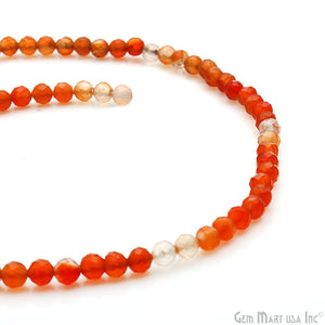 Carnelian Shaded 4-5mm Gemstones Rondelle Beads, Jewelry Making Supply Strand Beads