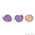 DIY Geode Druzy 26x18mm Gold Electroplated Loop Connector Studs Earrings