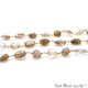 Brown Rutile Tumble Beads 10x6mm Gold Plated Wire Wrapped Rosary Chain - GemMartUSA