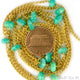 Chrysoprase 3-6mm Gold Plated Wire Wrapped Beads Rosary Chain
