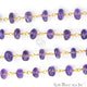 Amethyst Beads Gold Plated Wire Wrapped Rosary Chain - GemMartUSA