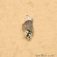 Rough Rainbow Moonstone Organic 17x9mm Silver Electroplated Pendant Connector - GemMartUSA