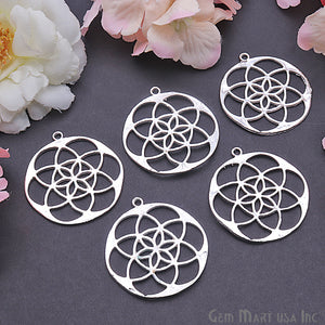 Crystal Grid 40x37mm Chandelier Finding Charm Connector (Pick Your Metal) - GemMartUSA