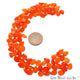 Carnelian Pears Shape 6x8mm Faceted Loose Gemstone