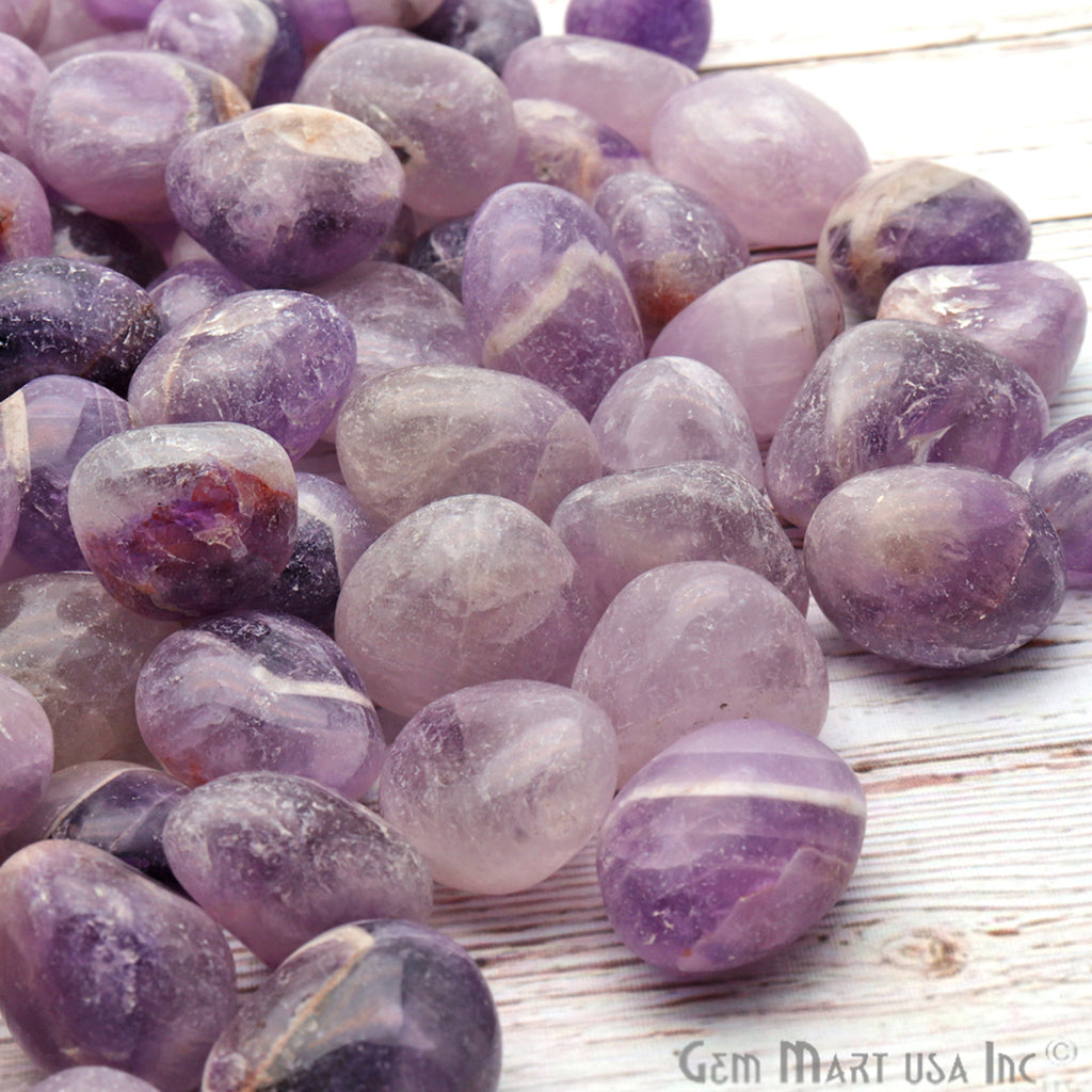 3.53oz Lot Amethyst Tumbled Reiki Healing Metaphysical Beach Spiritual Gemstone