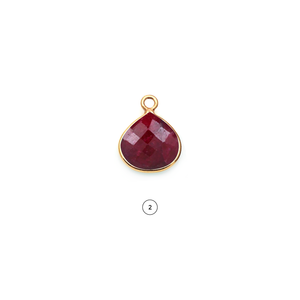 Heart 14mm Gold Bezel Single Point Bail Gemstone Connector