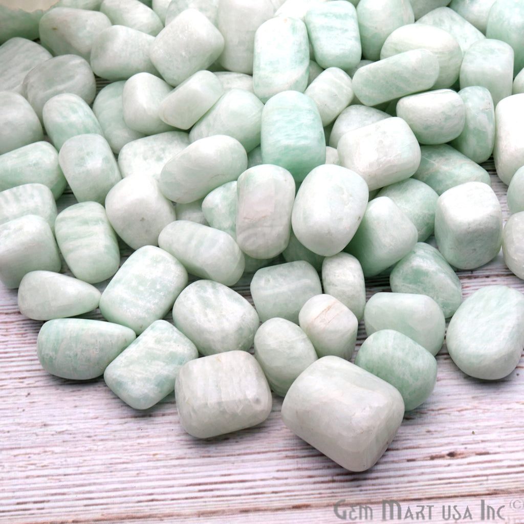3.53oz Lot Amazonite Tumbled Reiki Healing Metaphysical Beach Spiritual Gemstone