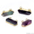 Double Point Fluorite Gemstone Bar Necklace Pendant