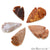 5pc Lot Arrowhead Cut Gemstones, 39x24mm Handcrafted Stone, Loose Gemstone, DIY Pendant, DIY Jewelry