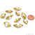 Natural Pearl Gemstone Gold Edge Eye Drilled Beads