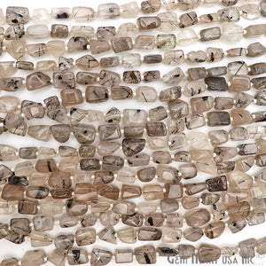 rutilated tumble beads